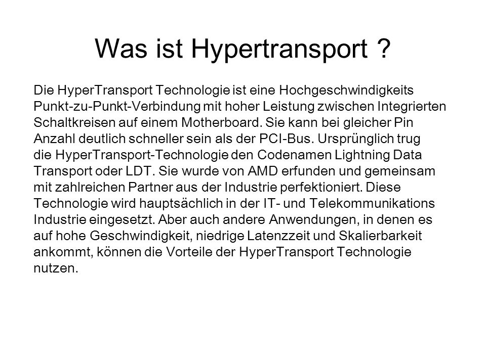 Was ist Hypertransport