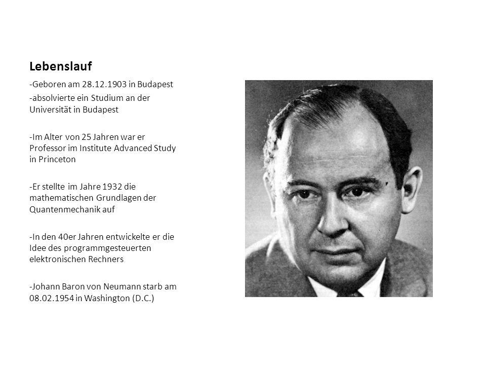 Lebenslauf -Geboren am 28.12.1903 in Budapest