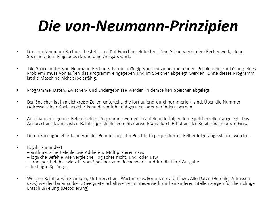 Die von-Neumann-Prinzipien