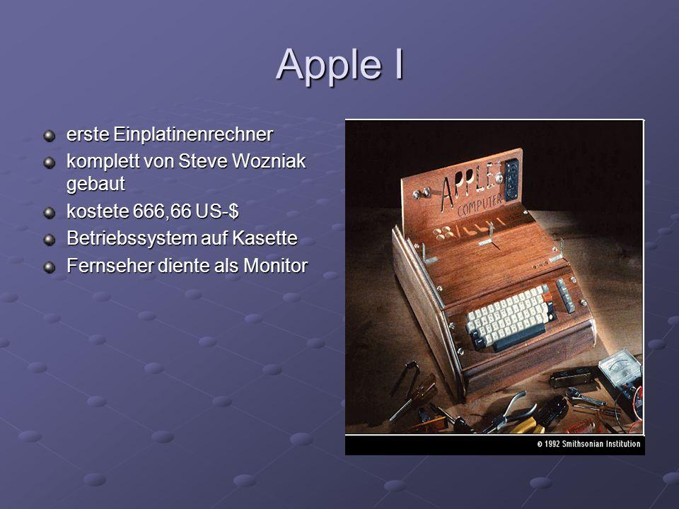 Apple I erste Einplatinenrechner komplett von Steve Wozniak gebaut