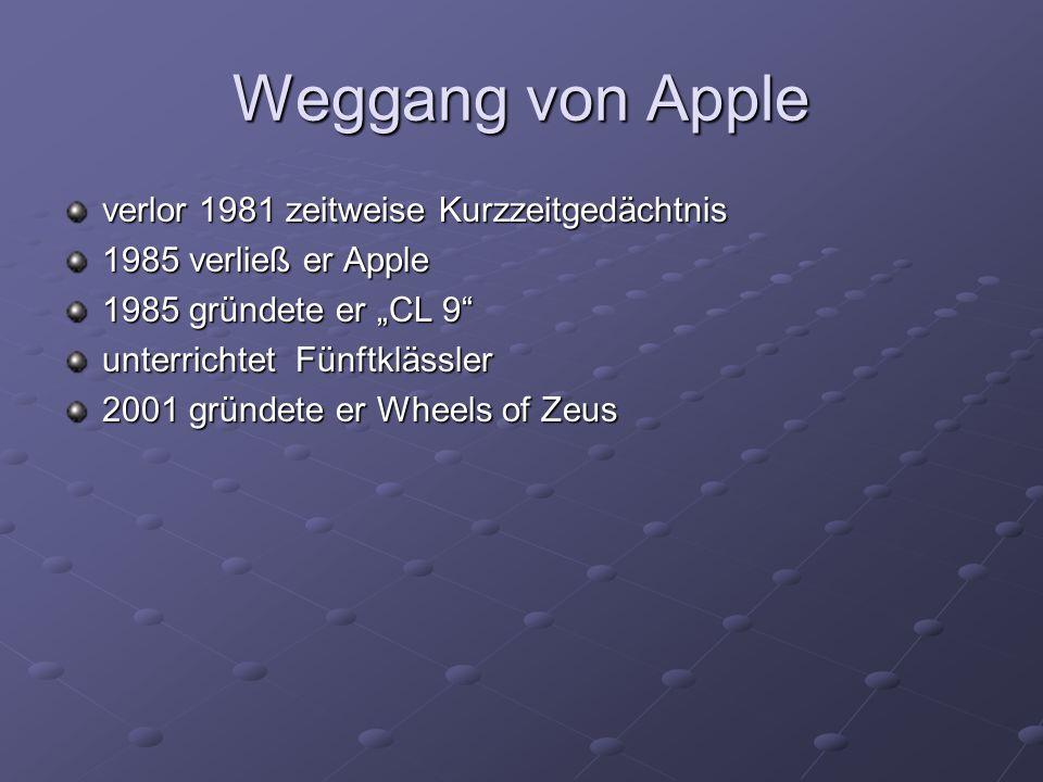 Weggang von Apple verlor 1981 zeitweise Kurzzeitgedächtnis