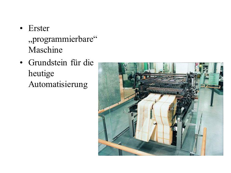 """Erster """"programmierbare Maschine"""