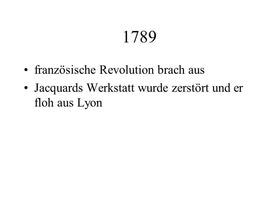1789 französische Revolution brach aus
