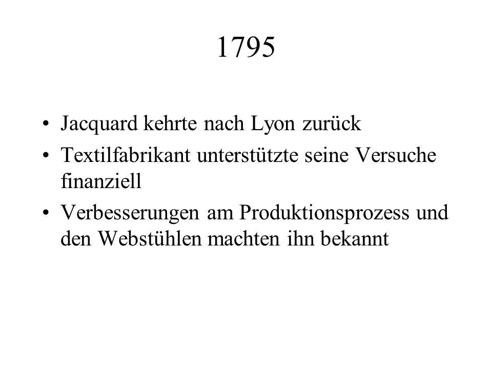 1795 Jacquard kehrte nach Lyon zurück