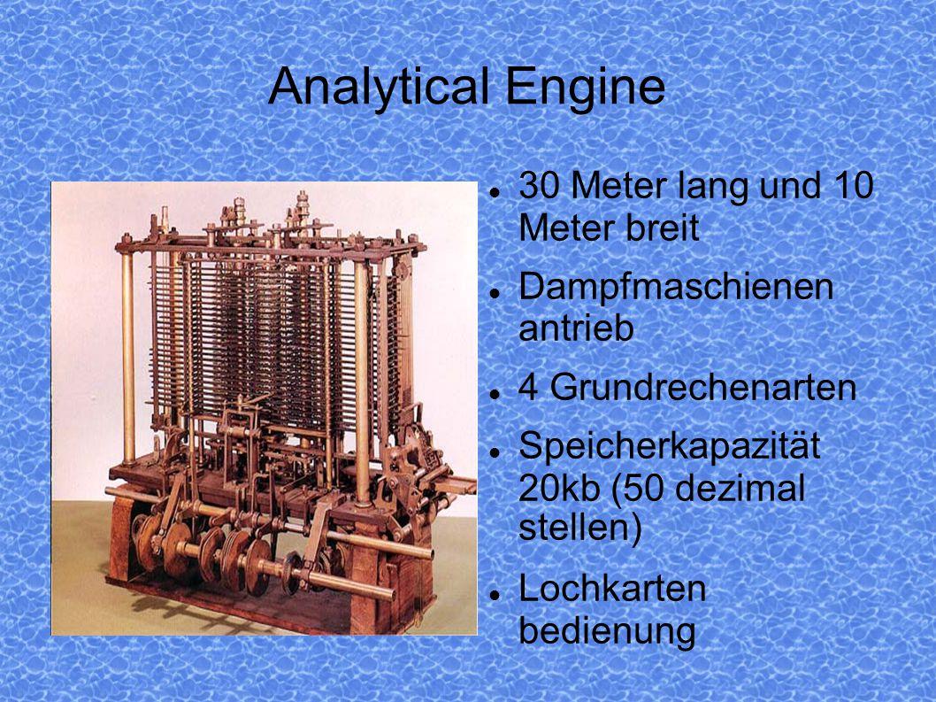 Analytical Engine 30 Meter lang und 10 Meter breit