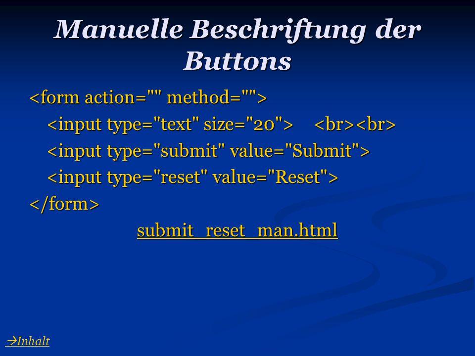 Manuelle Beschriftung der Buttons