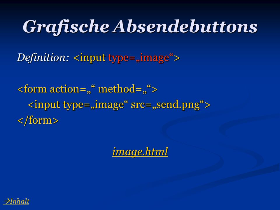 Grafische Absendebuttons