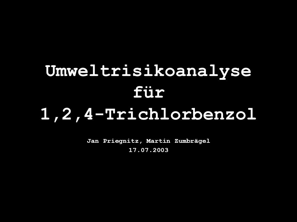 Umweltrisikoanalyse für 1,2,4-Trichlorbenzol