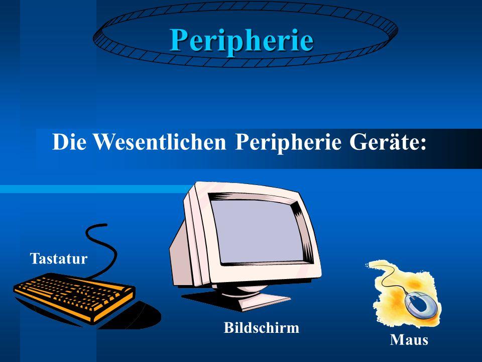 Peripherie Die Wesentlichen Peripherie Geräte: Tastatur Bildschirm