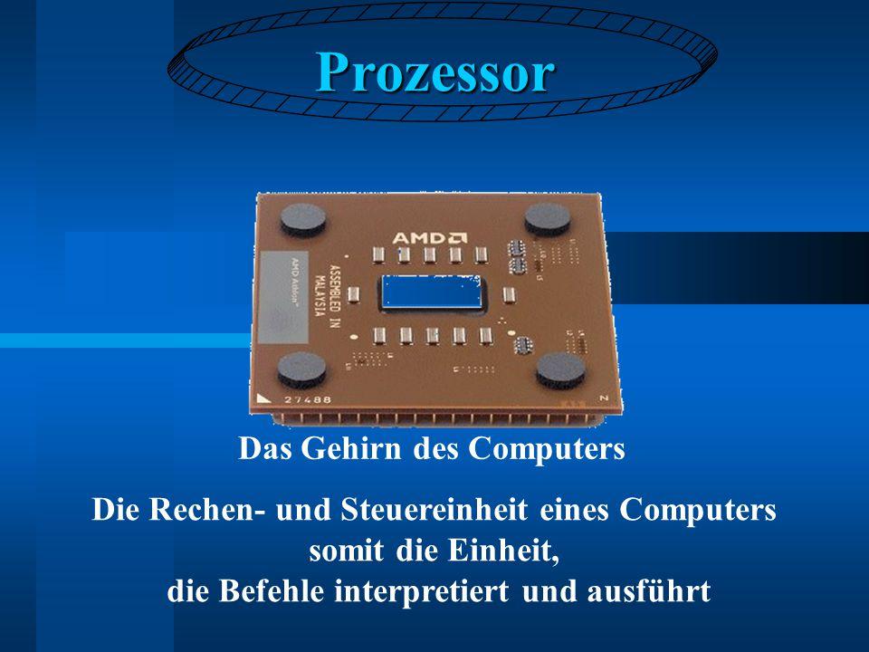 Prozessor Das Gehirn des Computers