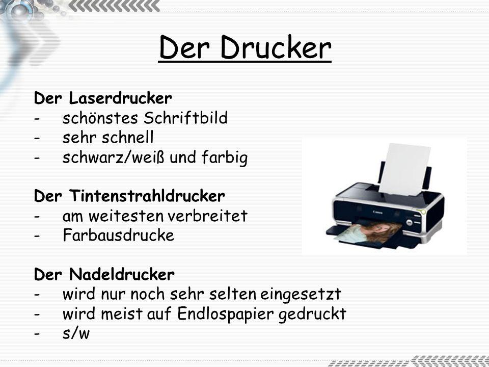 Der Drucker Der Laserdrucker schönstes Schriftbild sehr schnell