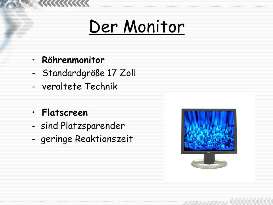 Der Monitor Röhrenmonitor Standardgröße 17 Zoll veraltete Technik