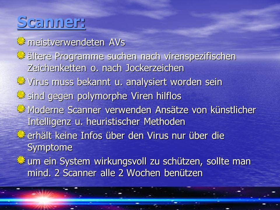 Scanner: meistverwendeten AVs