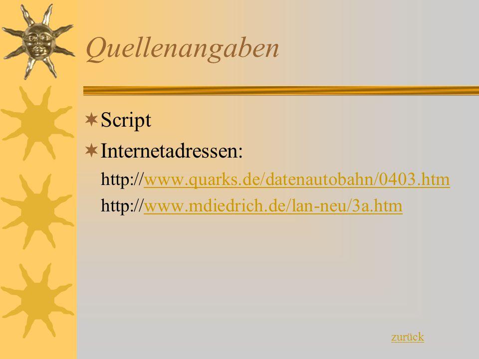 Quellenangaben Script Internetadressen: