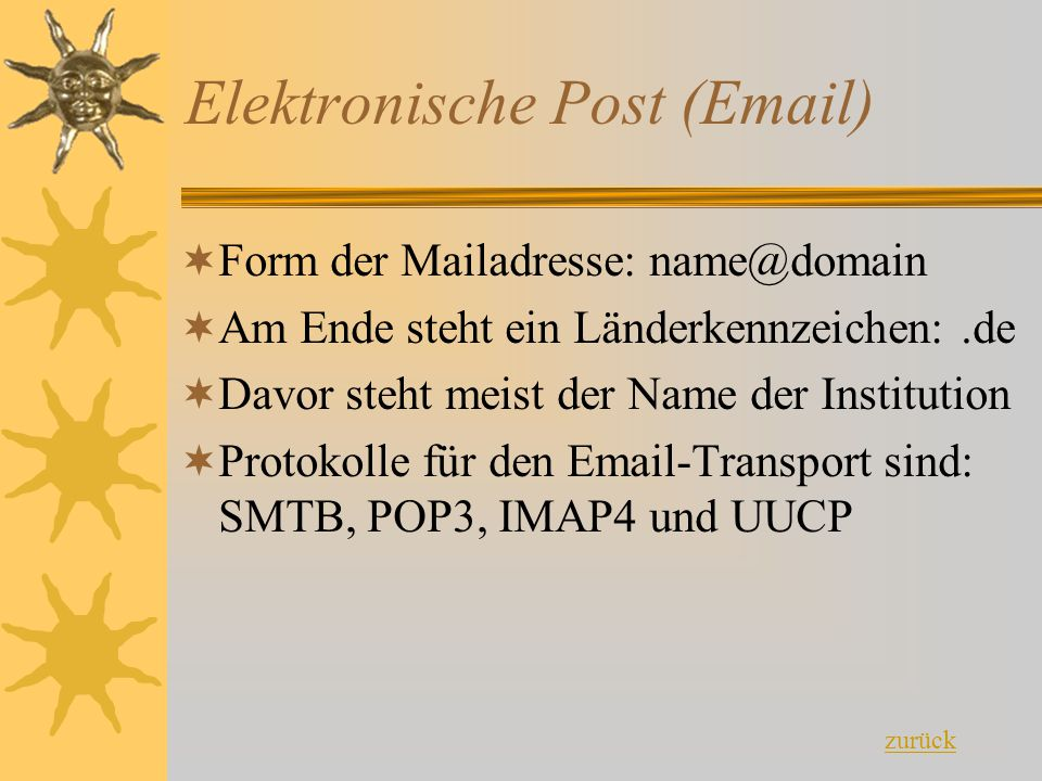 Elektronische Post (Email)