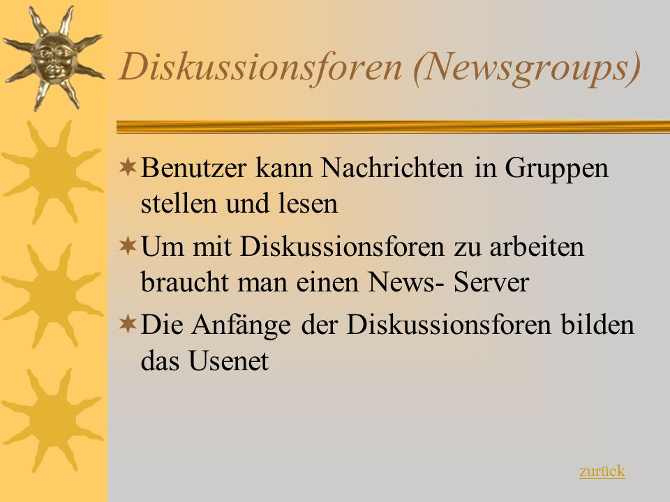 Diskussionsforen (Newsgroups)