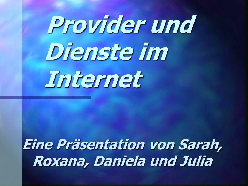 Provider und Dienste im Internet