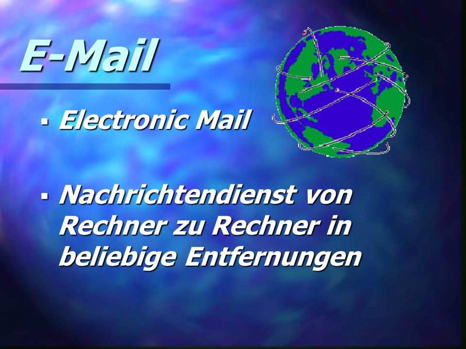 E-Mail Electronic Mail