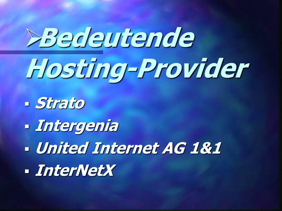 Bedeutende Hosting-Provider