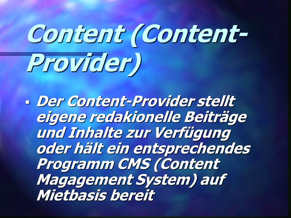 Content (Content-Provider)