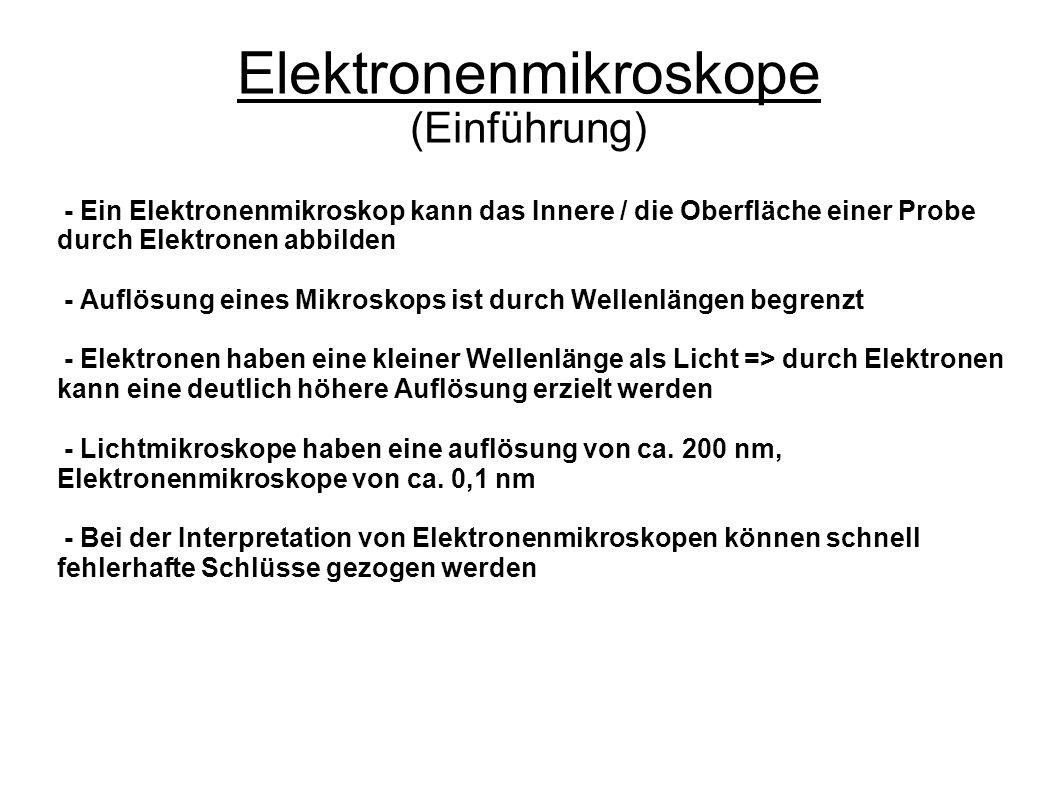 Elektronenmikroskope (Einführung)