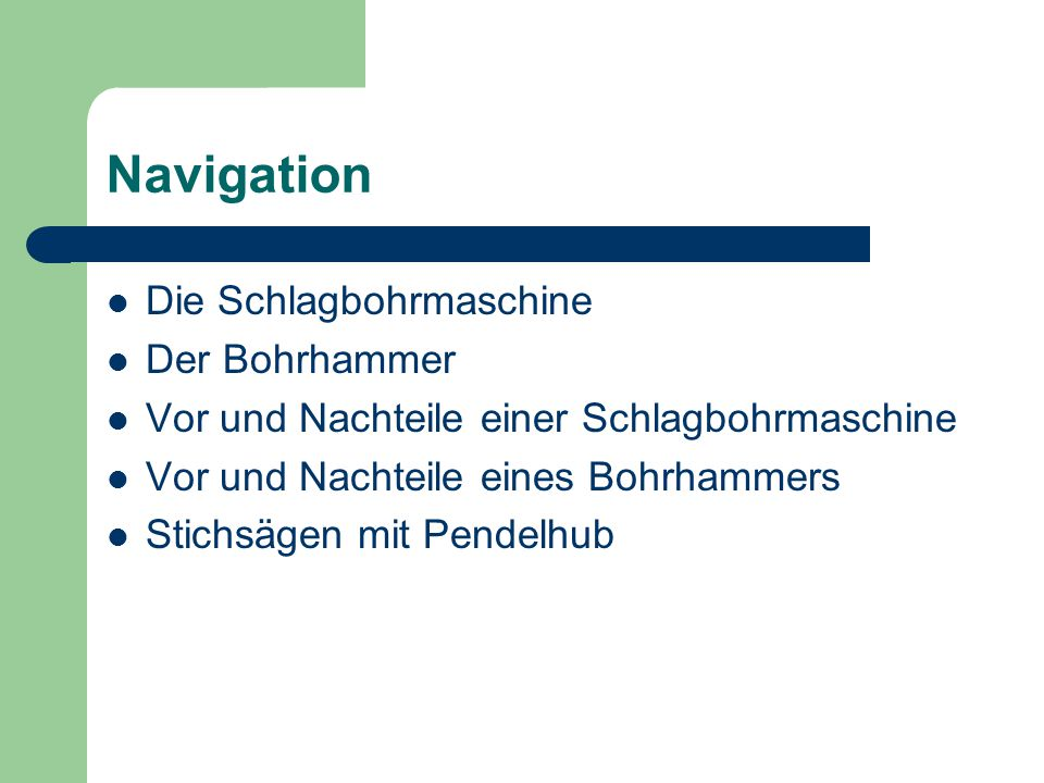 Navigation Die Schlagbohrmaschine Der Bohrhammer