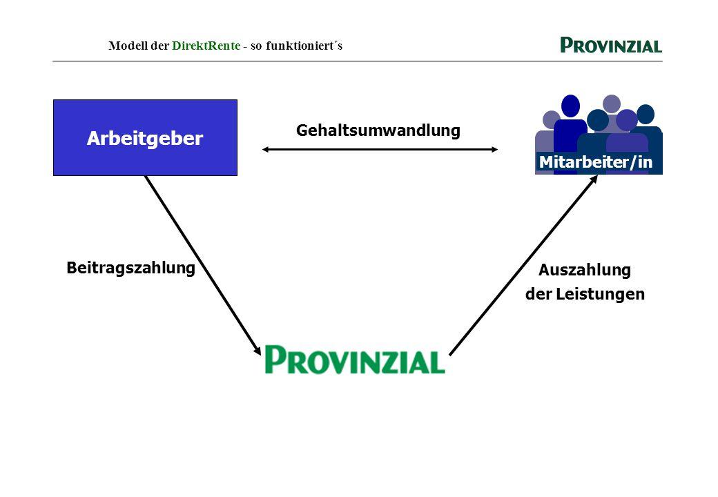 Modell der DirektRente - so funktioniert´s