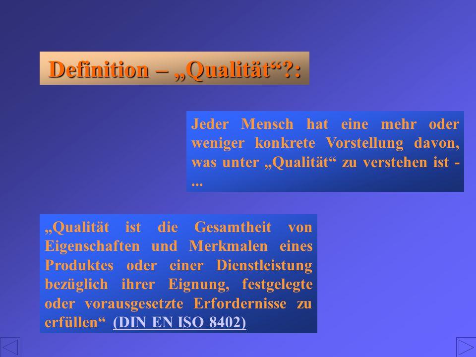 """Definition – """"Qualität :"""