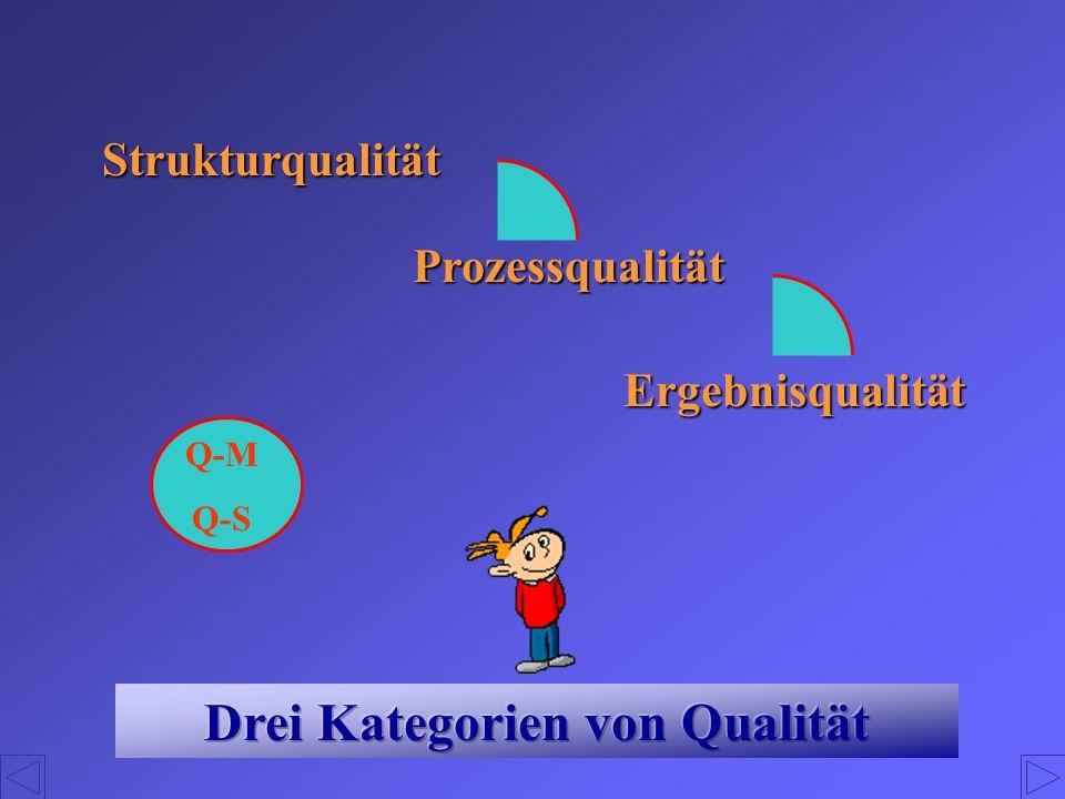 Drei Kategorien von Qualität