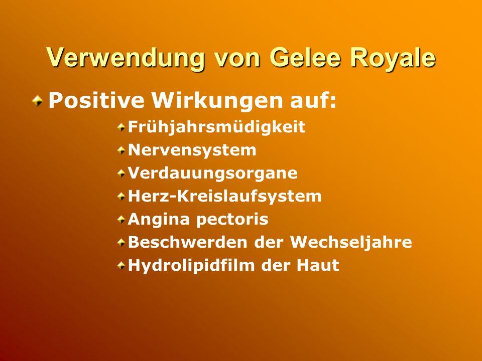 Verwendung von Gelee Royale