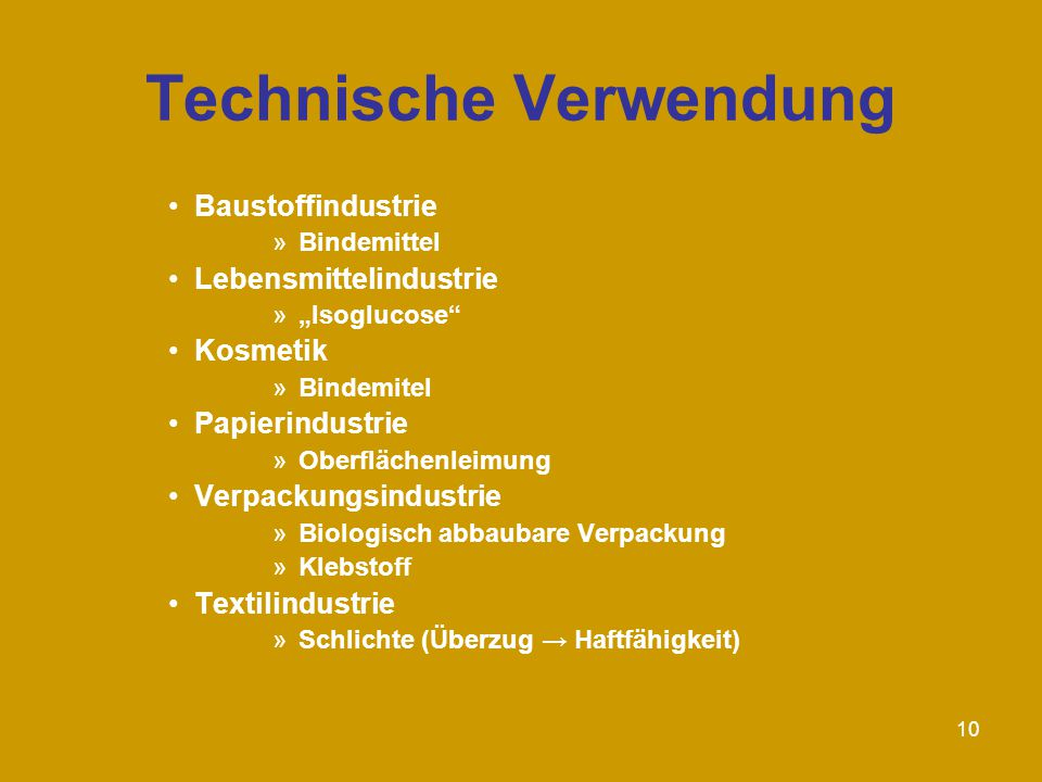 Technische Verwendung