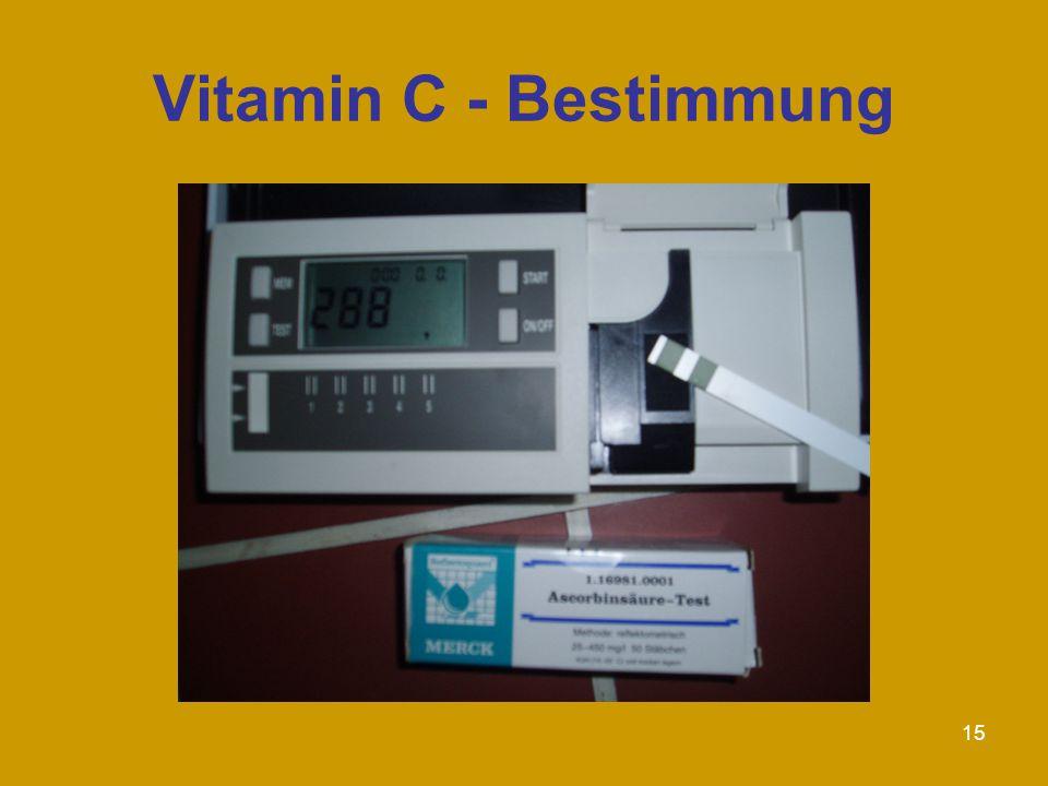 Vitamin C - Bestimmung
