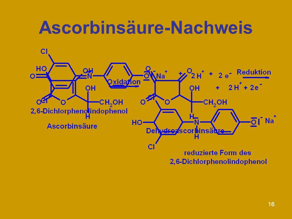 Ascorbinsäure-Nachweis
