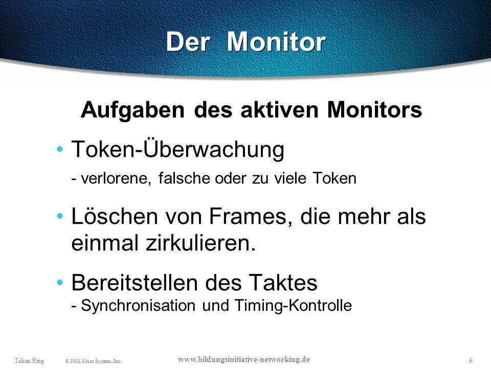 Aufgaben des aktiven Monitors