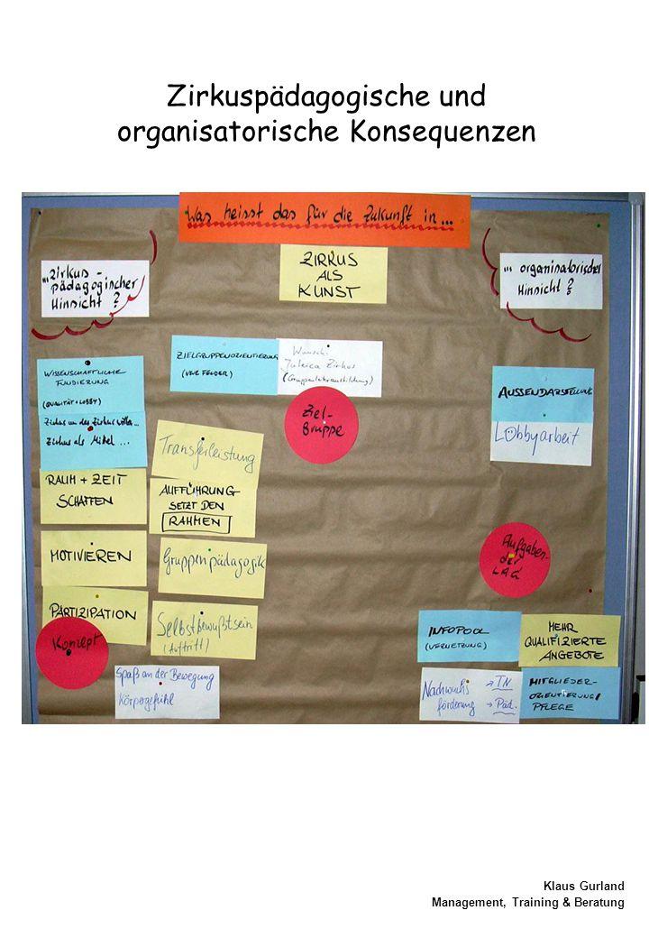 Zirkuspädagogische und organisatorische Konsequenzen