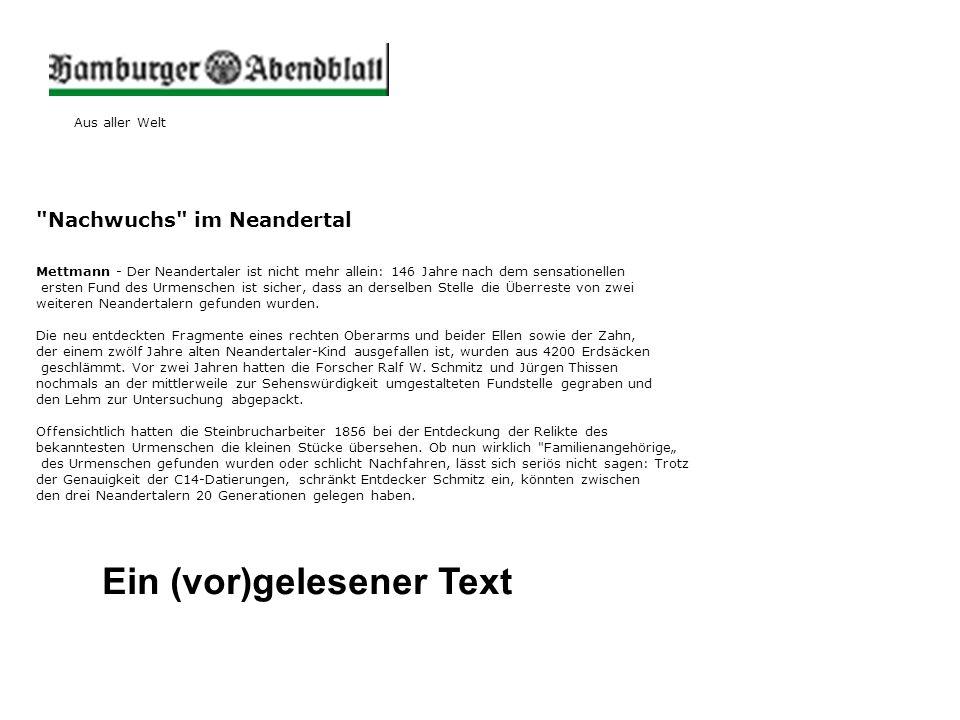 Ein (vor)gelesener Text