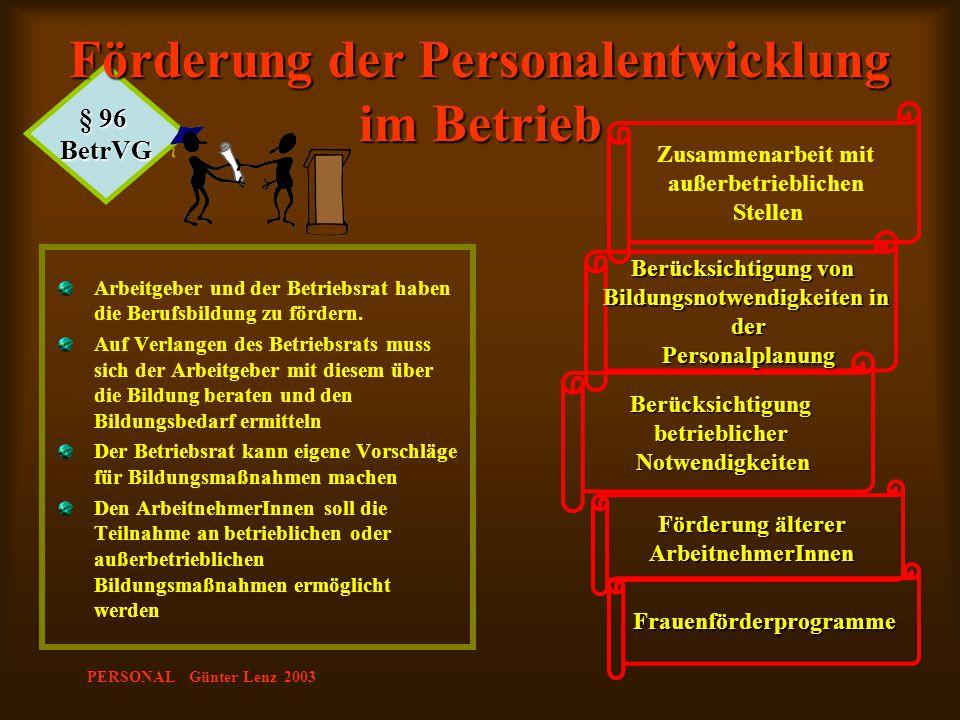 Förderung der Personalentwicklung im Betrieb