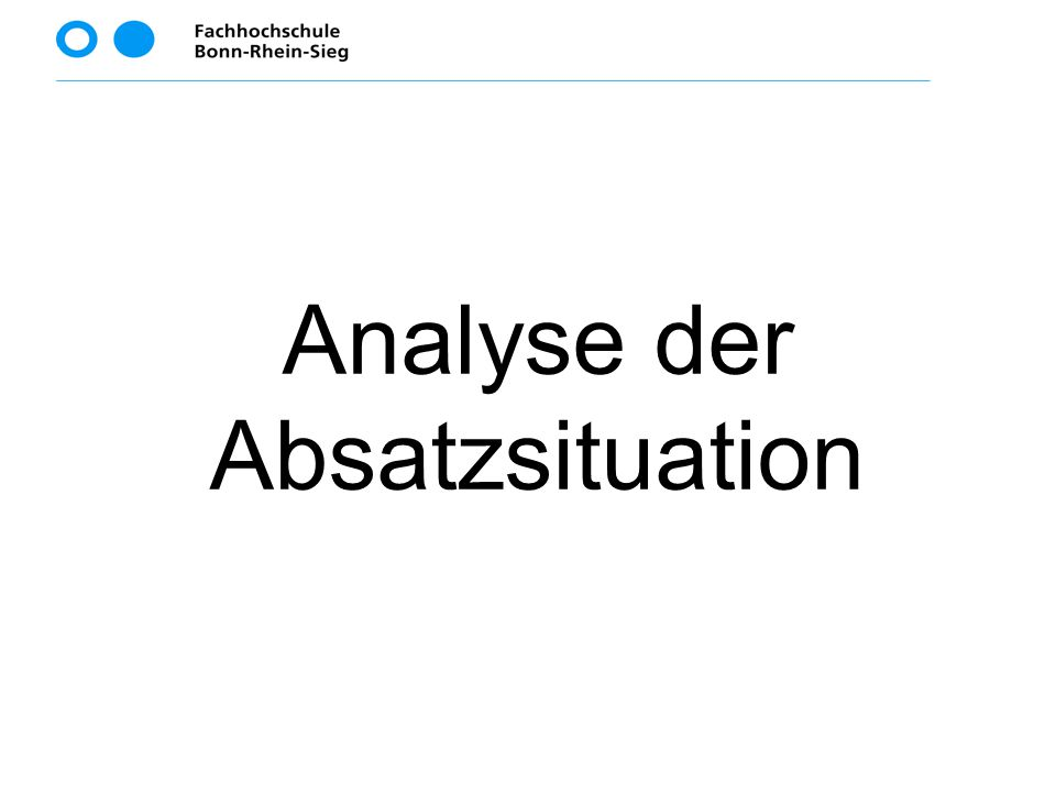Analyse der Absatzsituation
