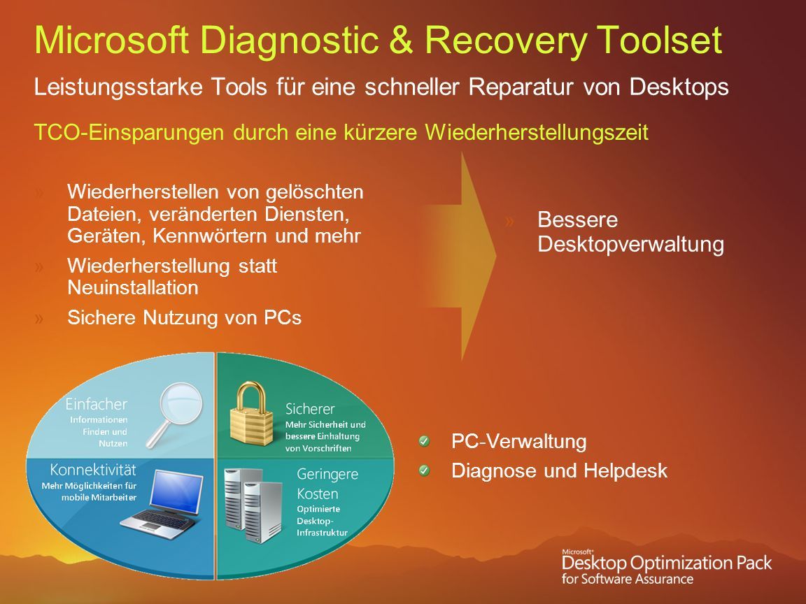 Microsoft Diagnostic & Recovery Toolset