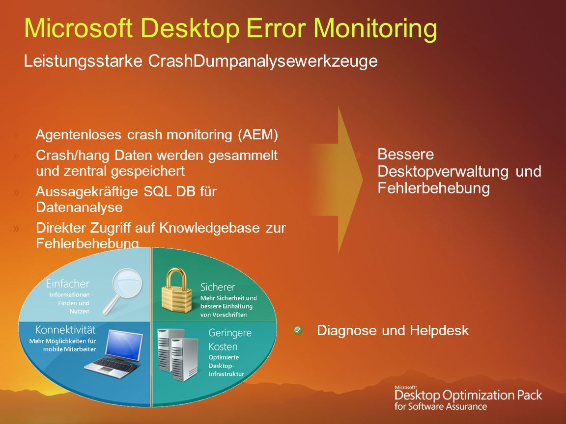Microsoft Desktop Error Monitoring