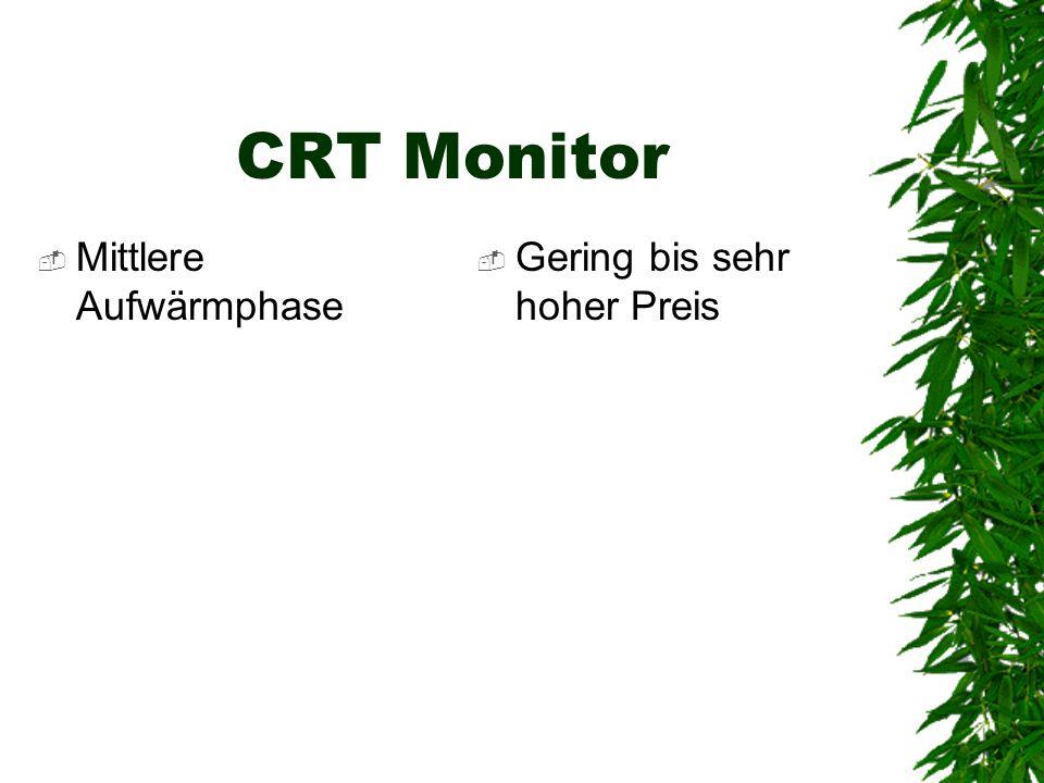 CRT Monitor Mittlere Aufwärmphase Gering bis sehr hoher Preis