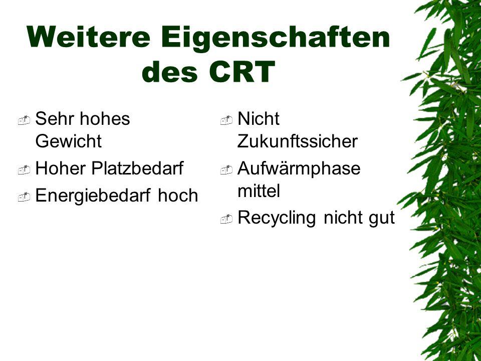 Weitere Eigenschaften des CRT