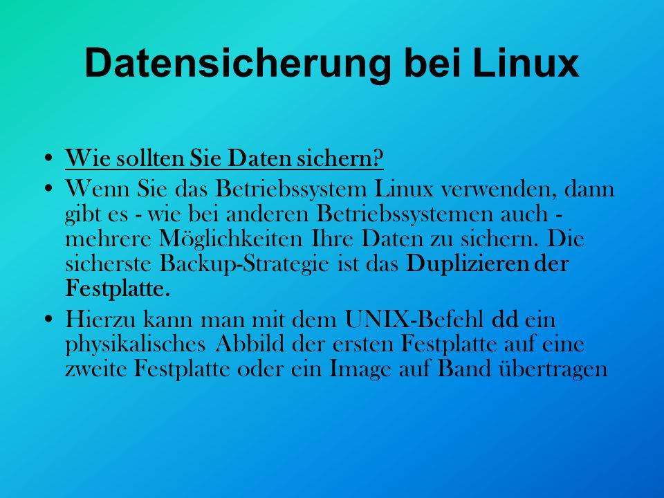 Datensicherung bei Linux
