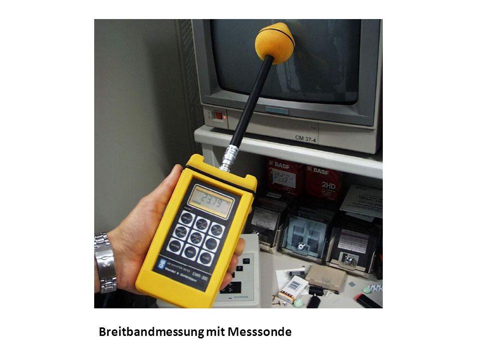 Breitbandmessung mit Messsonde
