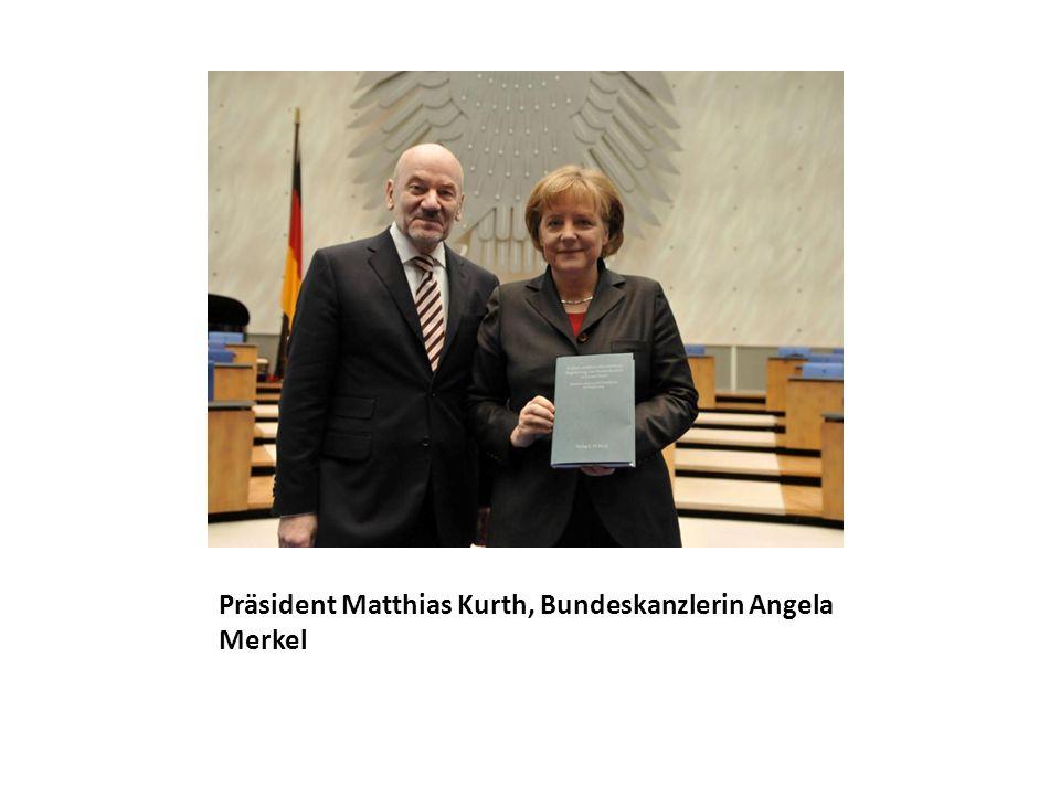 Präsident Matthias Kurth, Bundeskanzlerin Angela Merkel