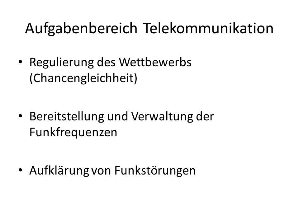 Aufgabenbereich Telekommunikation