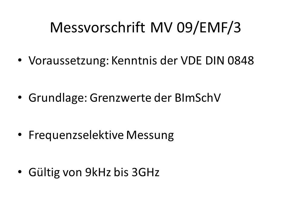 Messvorschrift MV 09/EMF/3