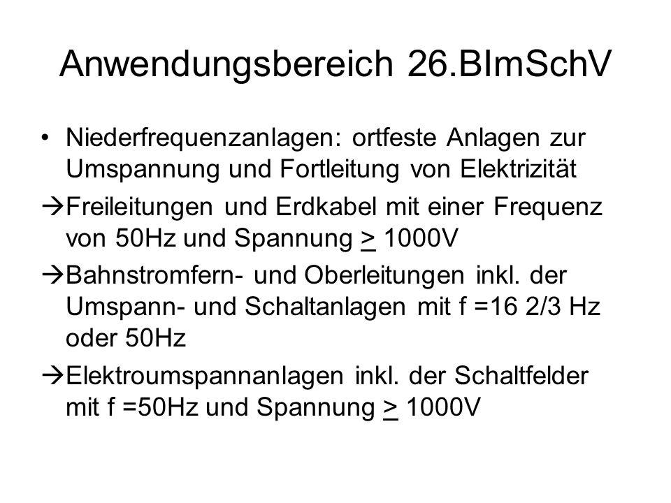 Anwendungsbereich 26.BImSchV