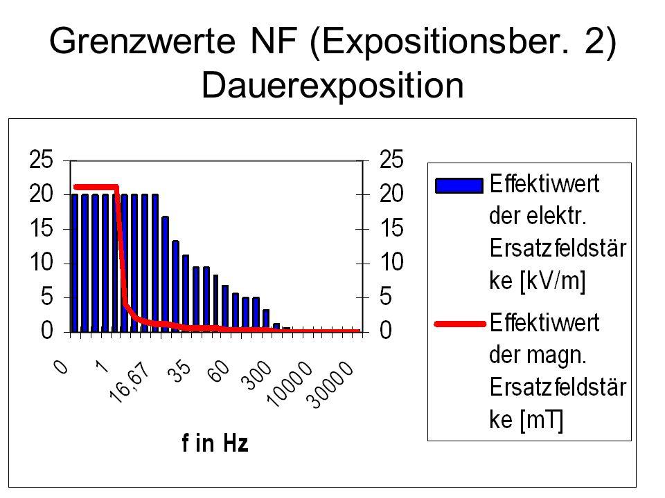 Grenzwerte NF (Expositionsber. 2) Dauerexposition
