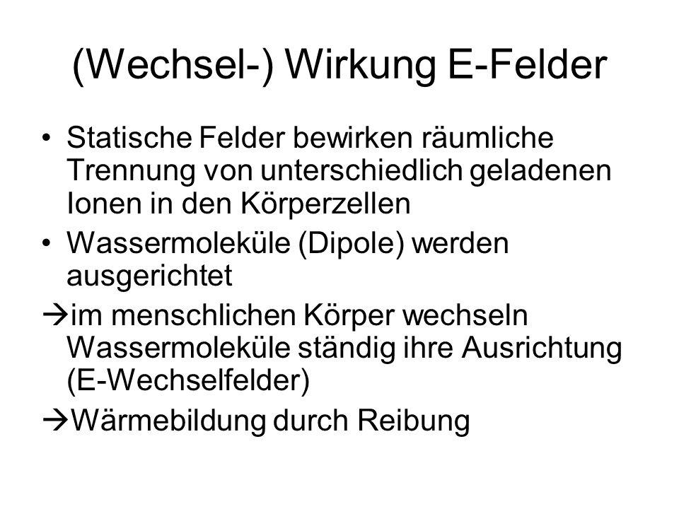 (Wechsel-) Wirkung E-Felder
